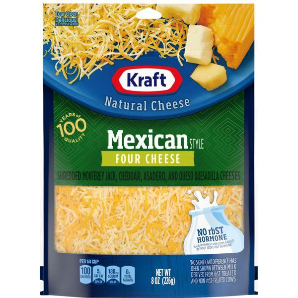 Kraft Finely Shredded Mexican Style Four Cheese MirchiMasalay