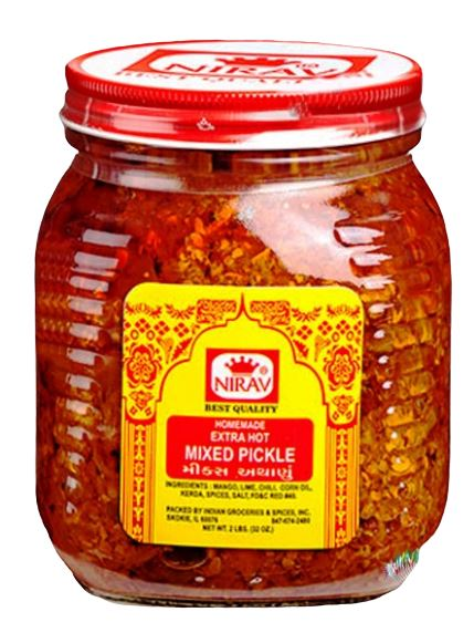 Nirav Homemade Mix Pickle 2lb MirchiMasalay