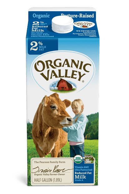 Organic Valley Reduced Fat 2% Milk, Pasteurized MirchiMasalay