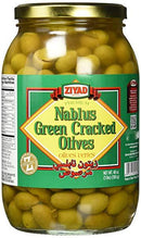 Ziyad Nablus Green Cracked olives MirchiMasalay