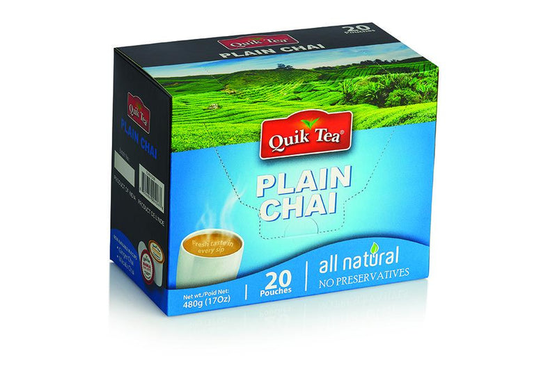Quick Plain Chai ( 20 pouches ) MirchiMasalay