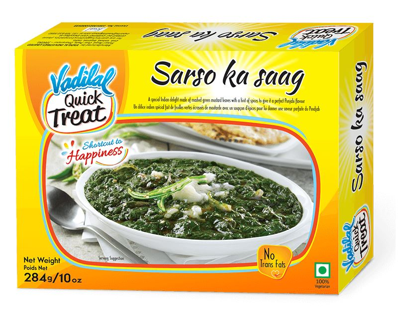 Vadilal quick Treat Sarso Ka Saag MirchiMasalay