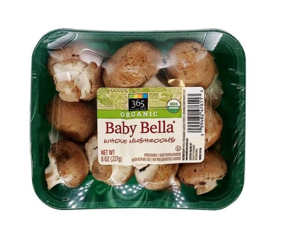 Organic Baby Bella Whole Mushrooms MirchiMasalay
