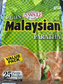 Swad Plain Malaysian Paratha Value Pack (25 pcs) - MirchiMasalay
