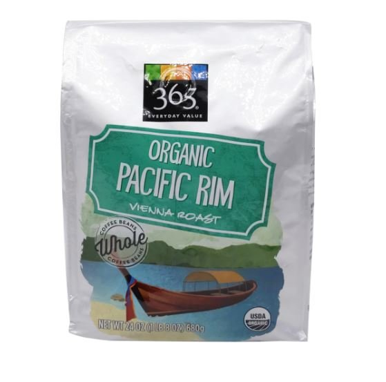 Organic Pacific Rim Whole Bean Coffee MirchiMasalay