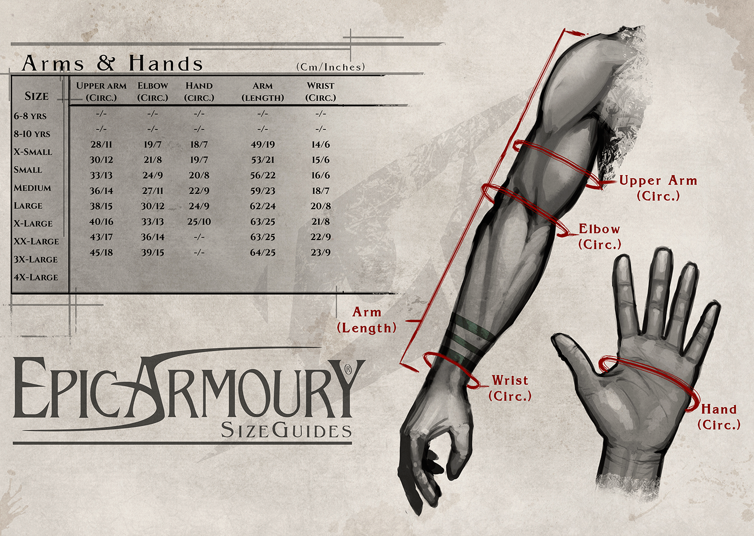 Epic Armoury Arms's & Hands