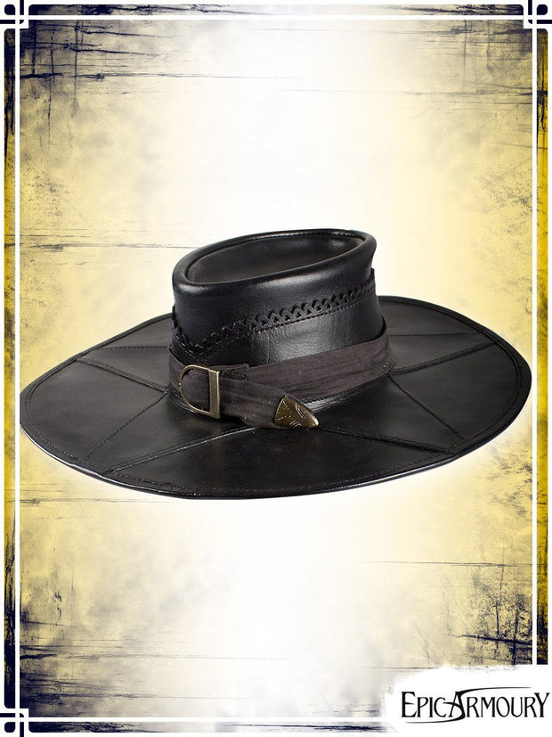 Witchhunter Hat Leather Hats Epic Armoury Black Small