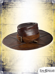 Witchhunter Hat Leather Hats Epic Armoury Brown Small