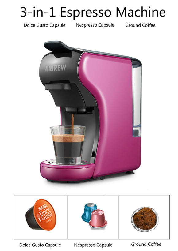 HiBREW 3-In-1 Multi-Function Espresso Machine for Nespresso capsule, D