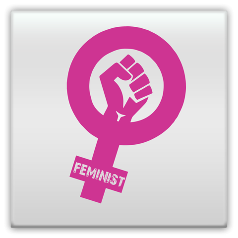 Feminist Fist Metal Magnets