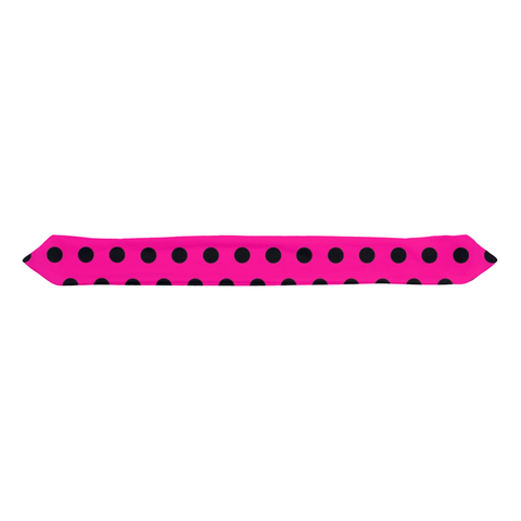 Pink/Black Polka Dot Infant Headbands
