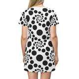 Dot Swirl T-shirt Dress
