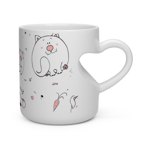 Animals Heart Shape Mug
