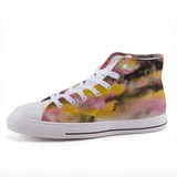 Watercolor high-top fashion canvas shoes