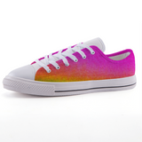 Watercolor low-top fashion canvas shoes