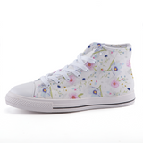 Floral high-top fashion canvas shoes