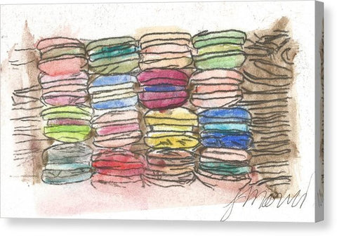 A Feast Of Macarons - Canvas Print
