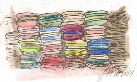 A Feast Of Macarons - Art Print