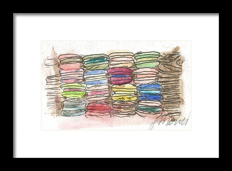 A Feast Of Macarons - Framed Print