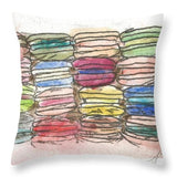 A Feast Of Macarons - Throw Pillow
