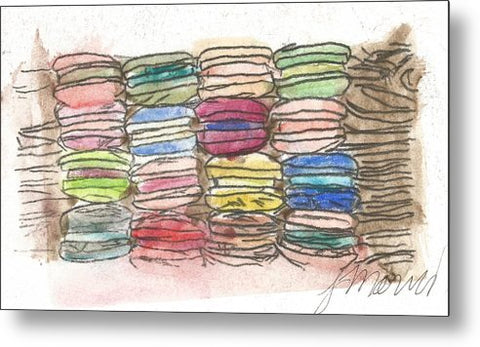 A Feast Of Macarons - Metal Print