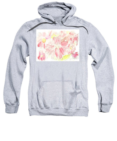 Abstract Red Daisies - Sweatshirt