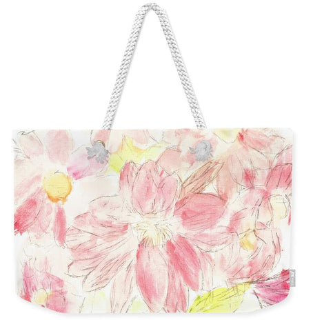 Abstract Red Daisies - Weekender Tote Bag
