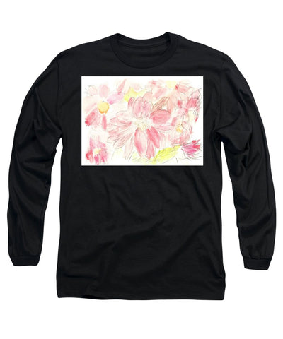 Abstract Red Daisies - Long Sleeve T-Shirt