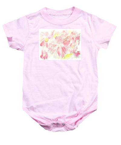 Abstract Red Daisies - Baby Onesie