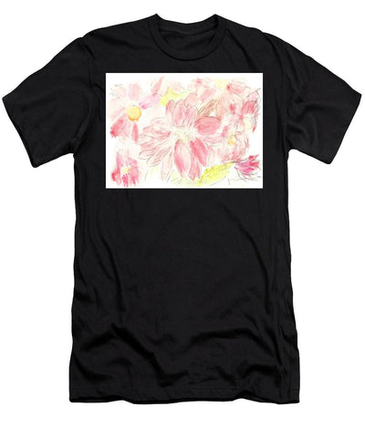 Abstract Red Daisies - Men's T-Shirt (Athletic Fit)