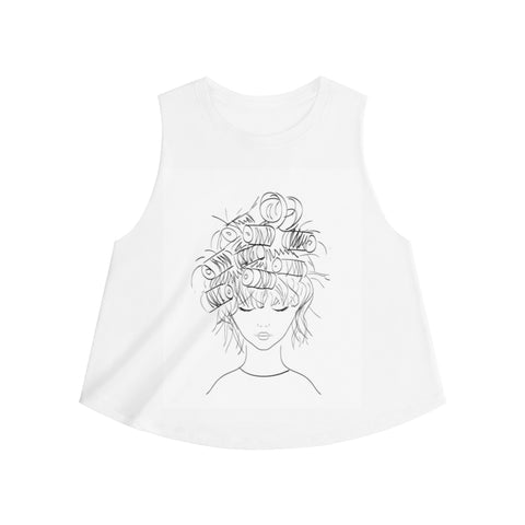 In Curlers Women's Crop top