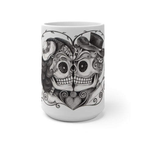 Nuzzling Skulls Color Changing Mug