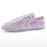 Feminist low-top fashion canvas shoes