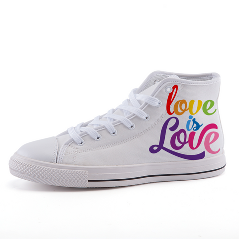 Love is Love high-top fashion canvas shoes