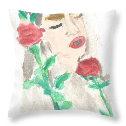 Drowning Rose - Throw Pillow