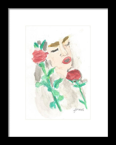 Drowning Rose - Framed Print