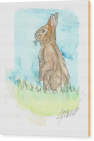 Easter Bunny - Wood Print