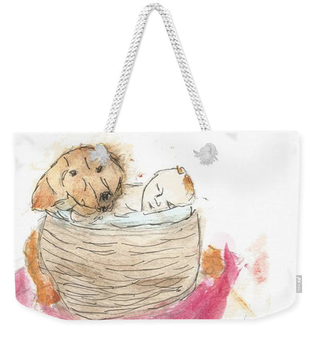 Guarding His Brother - Weekender Tote Bag