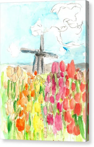 Holland In Spring - Canvas Print