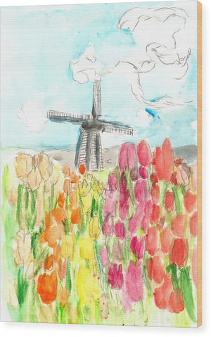 Holland In Spring - Wood Print
