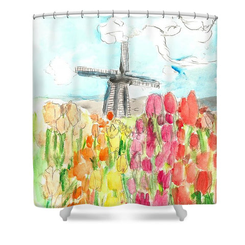Holland In Spring - Shower Curtain