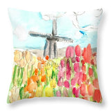 Holland In Spring - Throw Pillow