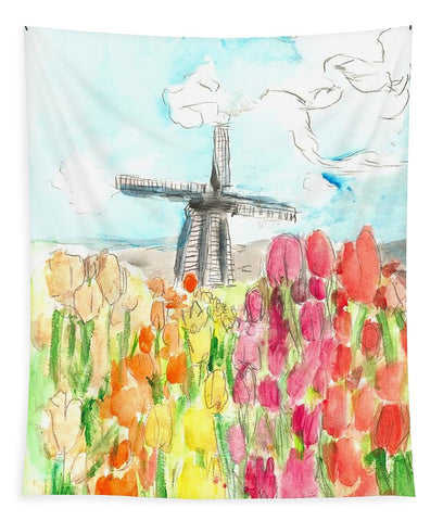 Holland In Spring - Tapestry