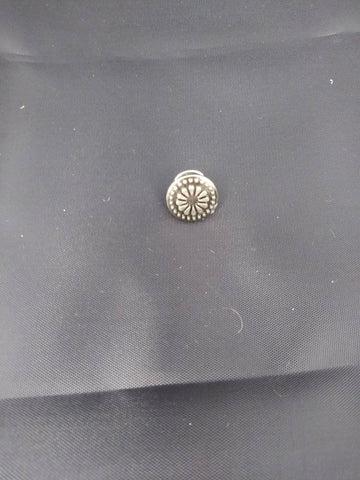 Vintage style metal button brooch, pin