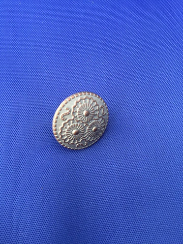 Vintage Metal Button Brooch