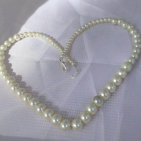Graduated Pearl Choker, Necklace