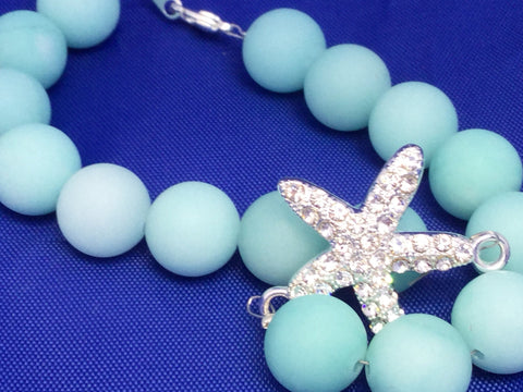 Starfish and Amazonite Anklet