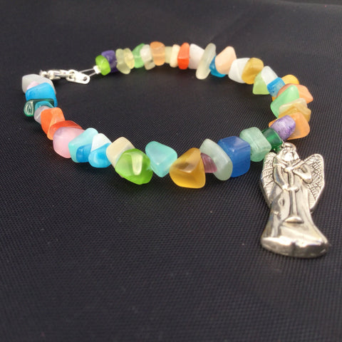 Angel Bracelet with Cat's Eye Beads