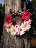Breast Cancer Awareness Embroidery Hoop Wreath
