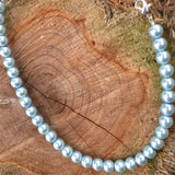 Cinderella Blue Pearl Necklace